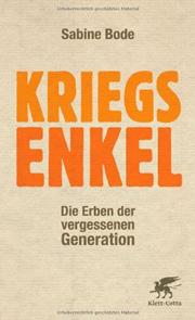 Cover Kriegsenkel - Die Erben der vergessenen Generation