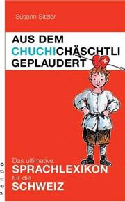 Cover Aus dem Chuchichäschtli geplaudert