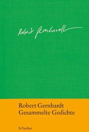 Cover Robert Gernhardt - Gesammelte Gedichte